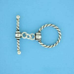 15658 - Bali Silver Toggle Clasp