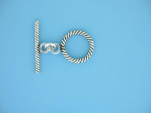 15657 - Bali Silver Toggle Clasp