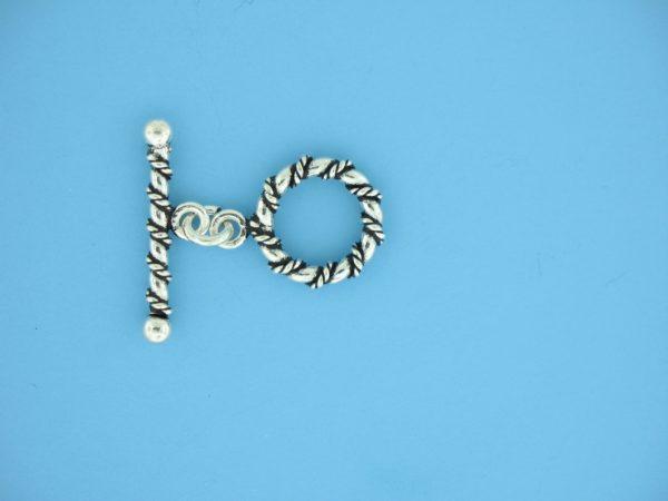 15661 - Bali Silver Toggle Clasp