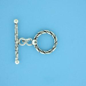 15662 - Bali Silver Toggle Clasp