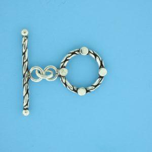 15663 - Bali Silver Toggle Clasp