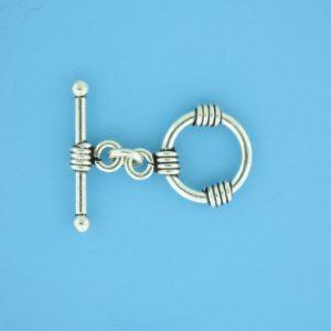 15664 - Bali Silver Toggle Clasp