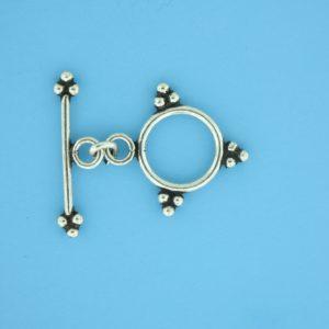 15666 - Bali Silver Toggle Clasp