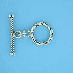 15667 - Bali Silver Toggle Clasp