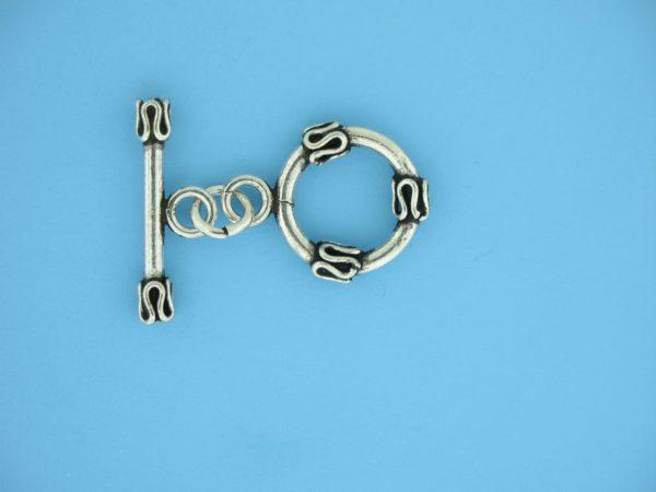 15668 - Bali Silver Toggle Clasp