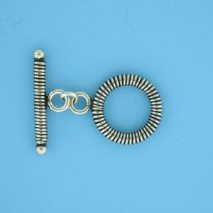 15677 - Bali Silver Toggle Clasp
