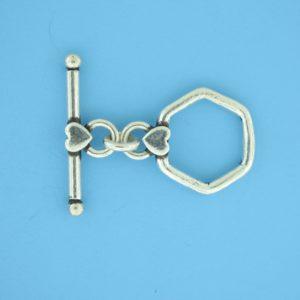 15689 - Bali Silver Toggle Clasp