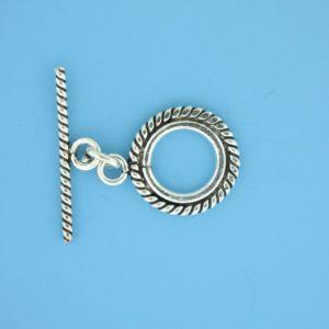 15695 - Bali Silver Toggle Clasp