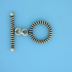 15697 - Bali Silver Toggle Clasp