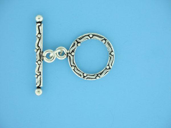 15700 - Bali Silver Toggle Clasp
