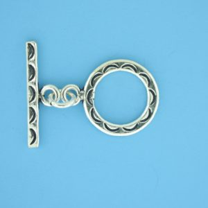15703 - Bali Silver Toggle Clasp
