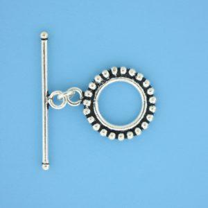 15705 - Bali Silver Toggle Clasp