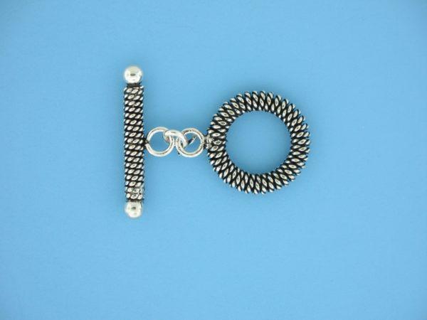 15706 - Bali Silver Toggle Clasp