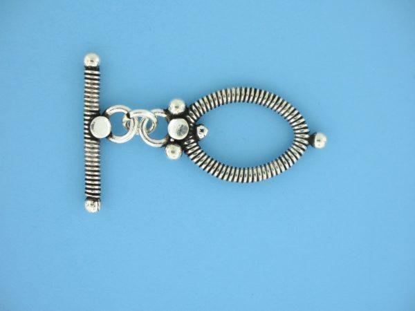 15713 - Bali Silver Toggle Clasp