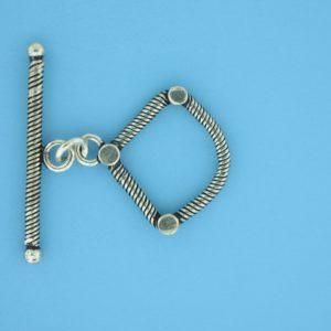 15715 - Bali Silver Toggle Clasp