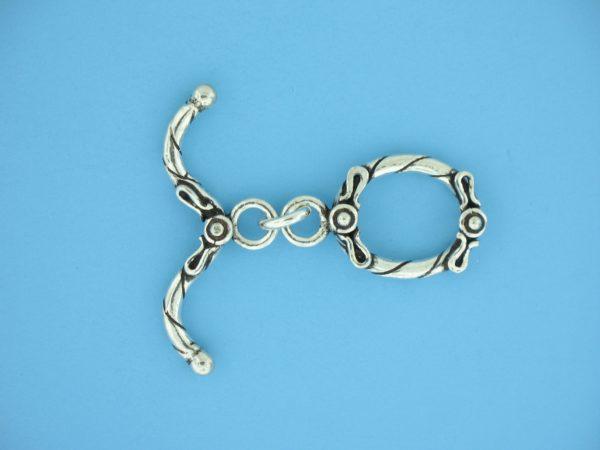 15717 - Bali Silver Toggle Clasp