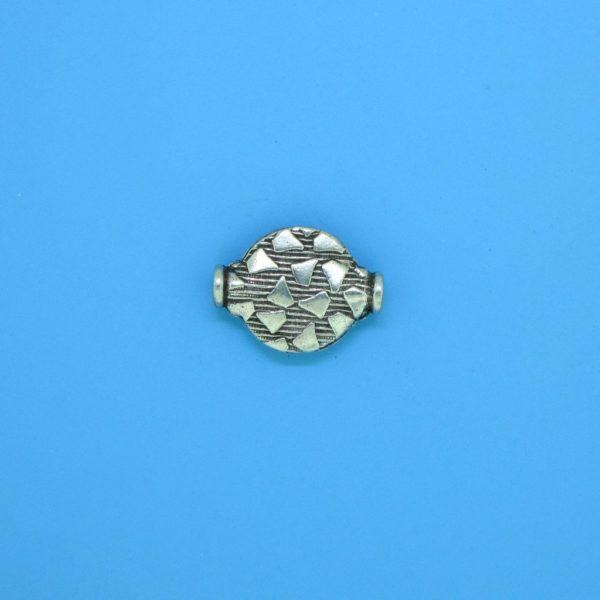 15157 - Bali Silver Flat Bead 13x9.5mm