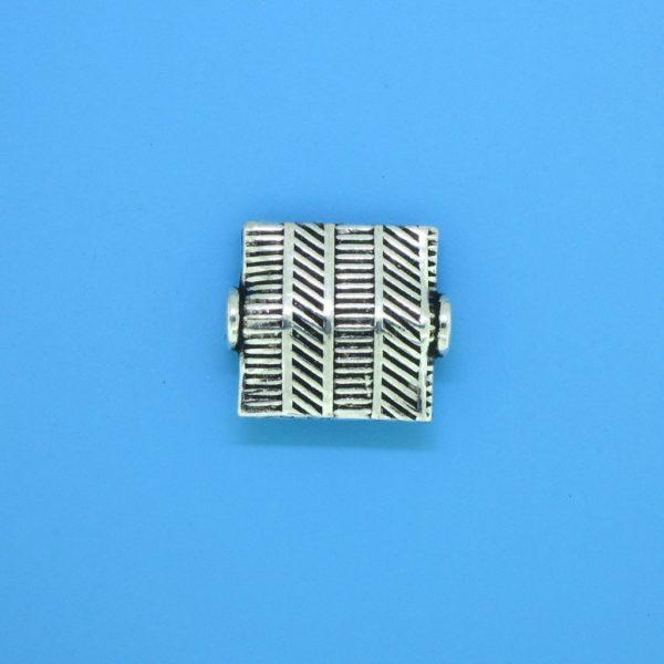 15163 - Bali Silver Flat Bead 12x12mm