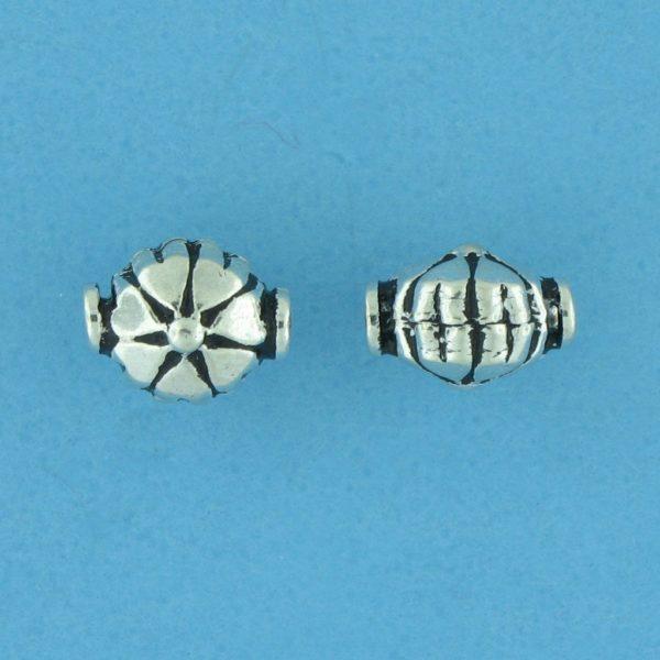 15175 - Bali Silver Bead 9x7x6mm