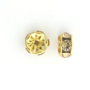 3606 - 6mm Swarovski Rhinestone Gold Plated Rondelle - Lt.Col.Topaz (6pcs.)
