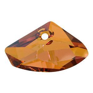 6657 - 16x27mm Swarovski Galactic Pendant - Copper