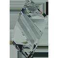 6650 - 22mm Swarovski Cubist Pendants - Black Diamond