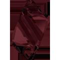 6650 - 22mm Swarovski Cubist Pendants - Burgundy