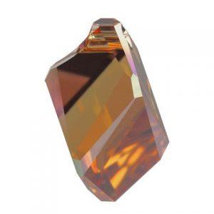 6650 - 22mm Swarovski Cubist Pendants - Copper