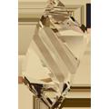 6650 - 22mm Swarovski Cubist Pendants - Golden Shadow
