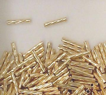 1752 - 1x6mm Gold Filled Twisted Tube