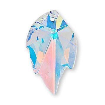 # 6735 - 26x16mm Swarovski Leaf Pendants - Crystal AB