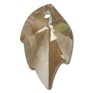 # 6735 - 26x16mm Swarovski Leaf Pendants - Golden Shadow