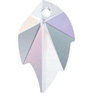 # 6735 - 32x20mm Swarovski Leaf Pendants - Crystal AB