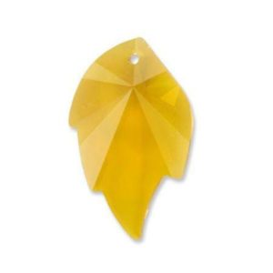 # 6735 - 32x20mm Swarovski Leaf Pendants - Topaz