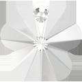 # 6744 - 12mm Swarovski Flower Pendant - Crystal