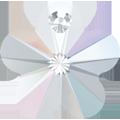 # 6744 - 12mm Swarovski Flower Pendant - Crystal AB