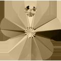# 6744 - 12mm Swarovski Flower Pendant - Golden Shadow