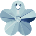 # 6744 - 12mm Swarovski Flower Pendant - Aquamarine
