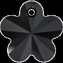 # 6744 - 12mm Swarovski Flower Pendant - Jet