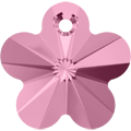 # 6744 - 12mm Swarovski Flower Pendant - Light Rose