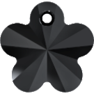 # 6744 - 14mm Swarovski Flower Pendant - Jet