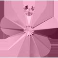 # 6744 - 14mm Swarovski Flower Pendant - Light Rose