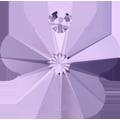 # 6744 - 14mm Swarovski Flower Pendant - Violet