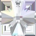 # 6866 - 20mm Swarovski Cross Pendant - Crystal AB