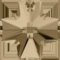 # 6866 - 20mm Swarovski Cross Pendant - Golden shadow