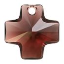 # 6866 - 20mm Swarovski Cross Pendant - Burgundy
