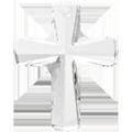 # 6860 - 12x10mm Swarovski Cross Pendant - Crystal