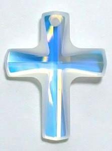 # 6860 - 12x10mm Swarovski Cross Pendant - Crystal AB