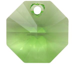 # 6401 - 14mm Swarovski Octagon Pendant - Peridot
