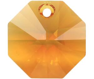# 6401 - 14mm Swarovski Octagon Pendant - Topaz